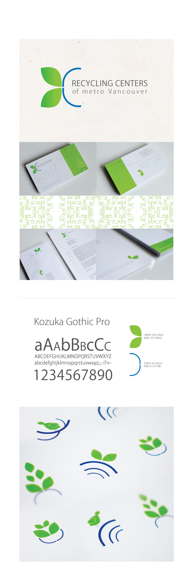 branded visual identity layout