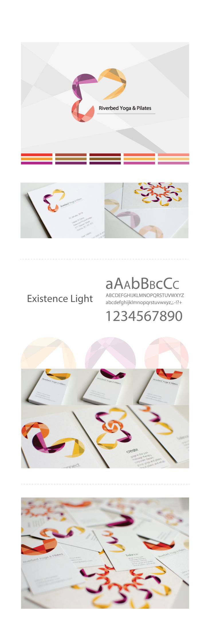 branded visual identity layout